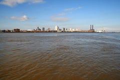 река Миссиссипи New Orleans города Стоковая Фотография RF