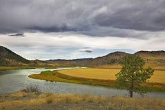 река Миссури октября Стоковые Фотографии RF