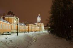 Река монастыря и vestry Александра Nevsky Lavra, Санкт-Петербурга стоковое изображение rf