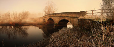 река моста Стоковая Фотография RF