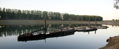 Река Молдова Dnistro Стоковые Фотографии RF