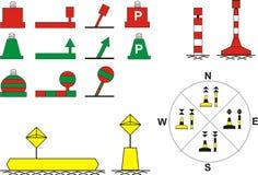 река навигации подписывает движение Стоковая Фотография RF