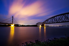 Река наступления ночи Стоковое Изображение RF
