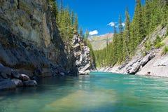 река национального парка каскада banff стоковая фотография