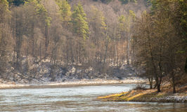 Река на времени весны Стоковые Изображения