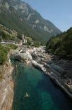 Река на долине Verzasca Стоковая Фотография