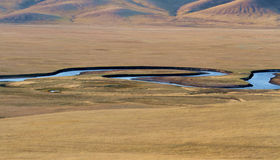Река на злаковике Стоковая Фотография RF