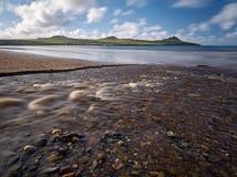 Река на пляже Стоковое фото RF