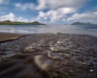Река на пляже Стоковое Фото