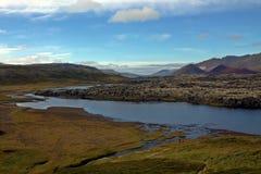 Река на penisula Snaefellsnes в Исландии Стоковые Фотографии RF