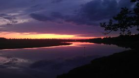 Река & небо Стоковые Фото