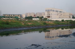 Река нечистот стоковые фотографии rf