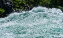 Река Ниагара на прогулке белой воды в Канаде Стоковые Изображения