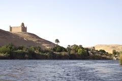 река Нила дома aswan Стоковые Фотографии RF