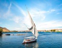 Река Нил в Асуане стоковое изображение rf