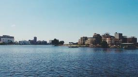 Река Нил, Думьят, Египет стоковое фото rf