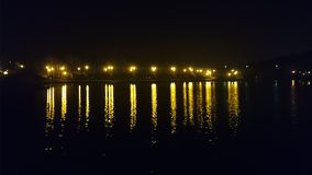 река ночи в Польше Стоковая Фотография