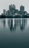 река ночи города Стоковое Фото