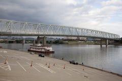 Река Огайо в Цинциннати, Огайо, США Стоковая Фотография