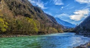 Река одно Bzyb самых больших рек абхазии Стоковая Фотография RF