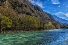 Река одно Bzyb самых больших рек абхазии Стоковые Фотографии RF