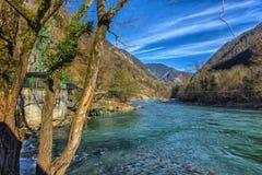 Река одно Bzyb самых больших рек абхазии Стоковые Изображения