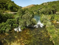 Река около Omis, Хорватии Стоковое Фото