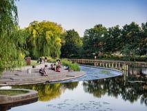 Река Оденсе на день лет Стоковое Изображение