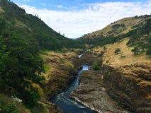 Река долина gorge стоковое изображение rf
