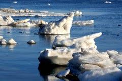 река перемещаясь льда Стоковое фото RF