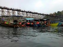 река перемещения шлюпки Стоковое Фото