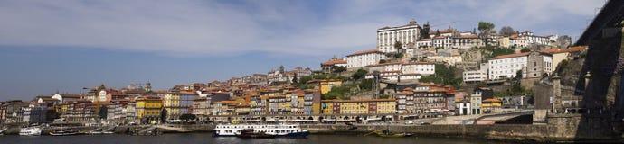 Река Порту Португалия Дуэро панорамы Стоковое Изображение RF