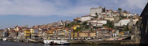 Река Порту Португалия Дуэро панорамы Стоковые Фото