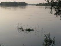 Река после захода солнца Стоковое Изображение RF