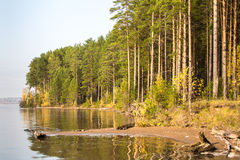 Река под солнцем ural Стоковое Фото