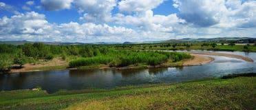 река провинции gen Монголии фарфора Стоковые Изображения RF