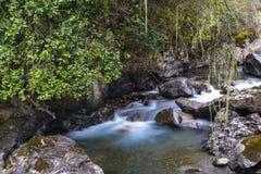 Река пропускает в долине Стоковое фото RF