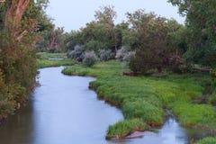 Река Платт на зоре Стоковые Фото