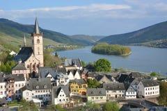 Река Рейн с Lorch Стоковое фото RF