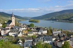 Река Рейн с Lorch Стоковые Фото