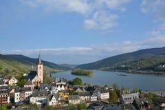 Река Рейн с Lorch Стоковое Фото