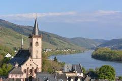 Река Рейн с Lorch Стоковое Изображение