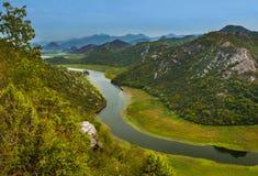 Река Риеки Crnojevica около озера Skadar - Черногории Стоковое Изображение