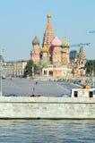 Река России Москвы собор базилика St солнечный свет красной площади Москвы Кремля Стоковое Изображение
