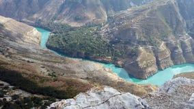 Река Россия горы Стоковые Изображения