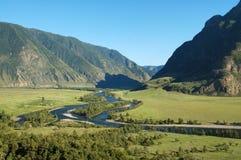 река Россия гор katun altay Стоковые Изображения RF