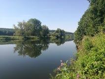 Река Рур в Schwerte, Германии стоковые изображения rf