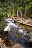 река рыболова стоковые фотографии rf