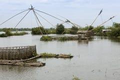 река рыболовства Камбоджи шлюпок Стоковое Изображение