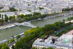 Река Сена - взгляд от Эйфелева башни Стоковая Фотография